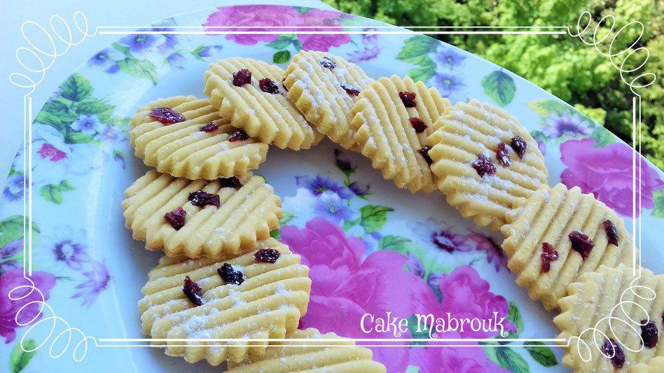 Biscuits aux cranberries