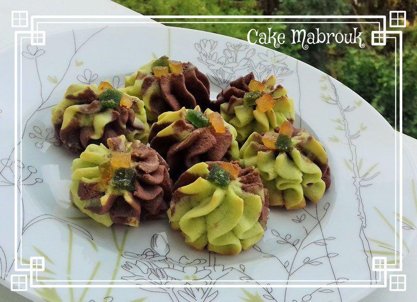 Rochers sablés pistache chocolat et oranges confites