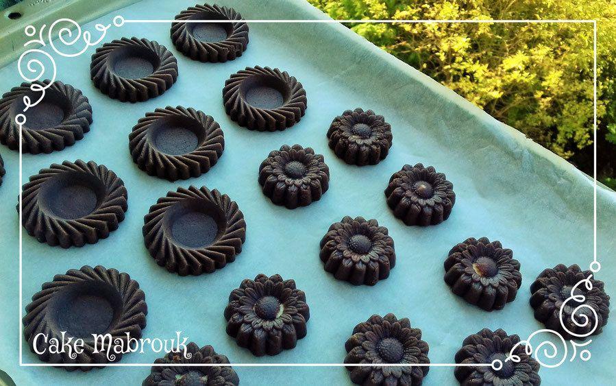 Gâteaux marguerites aux deux chocolats