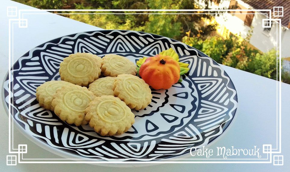Biscuits zeste d'orange thème citrouille halloween