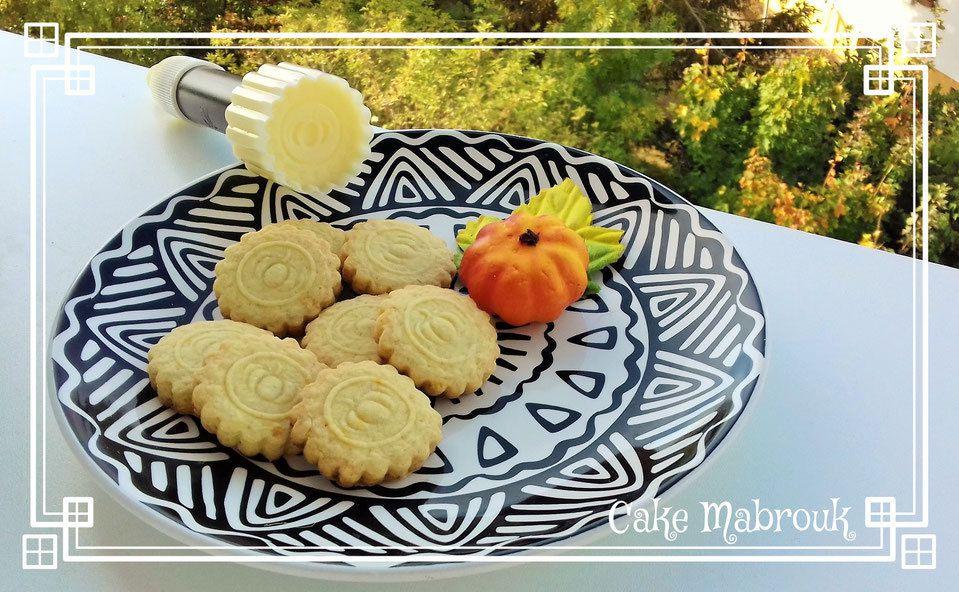 Biscuits zeste d'orange thème citrouille halloween