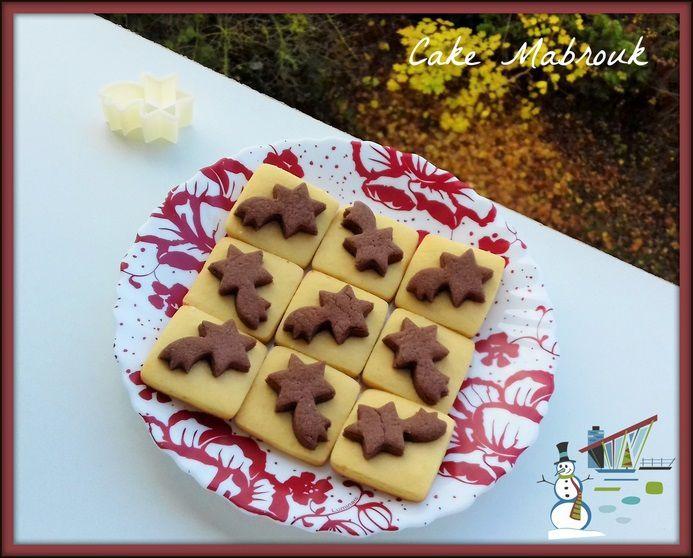 Sablés étoile filante vanille chocolat