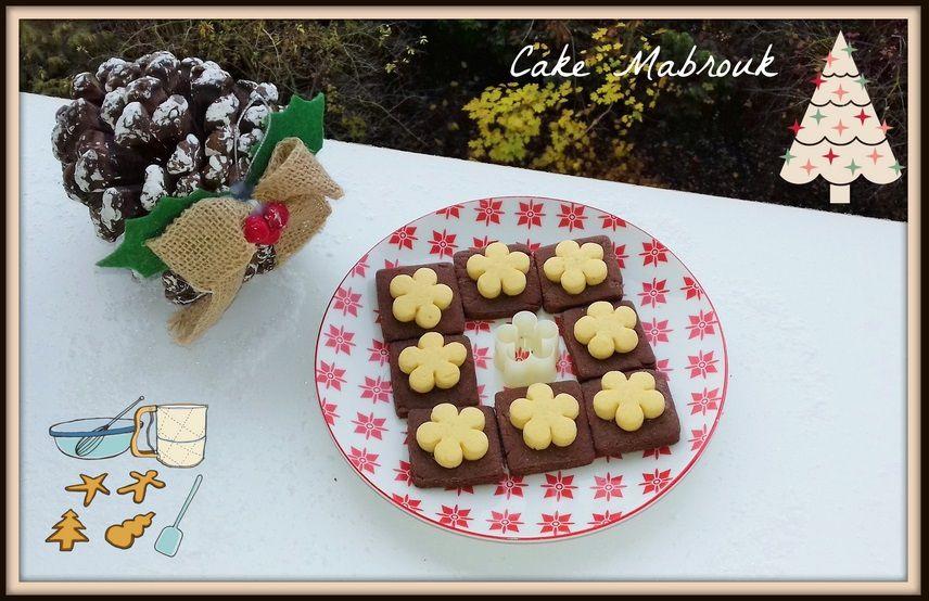Biscuits chocolat vanille petite fleur