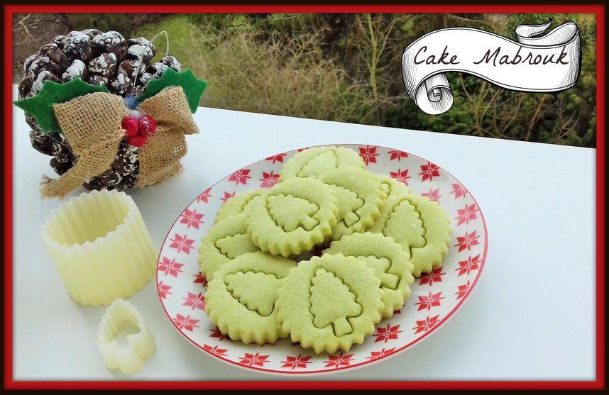Sablés de Noël à la pistache et son petit sapin