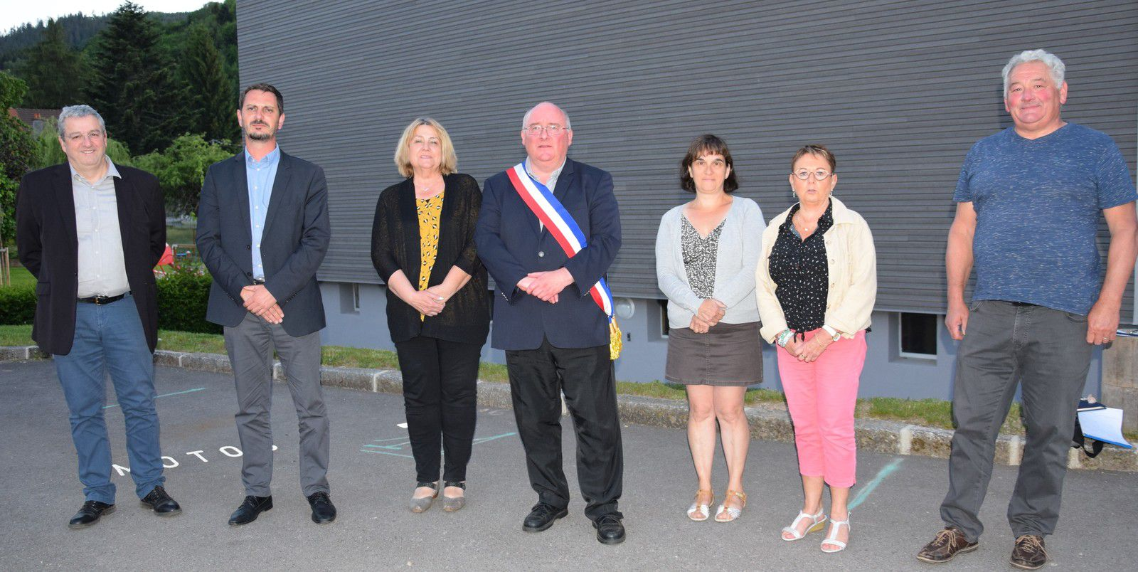 Plainfaing : Le Maire et ses adjoints - photo mairie Plainfaing