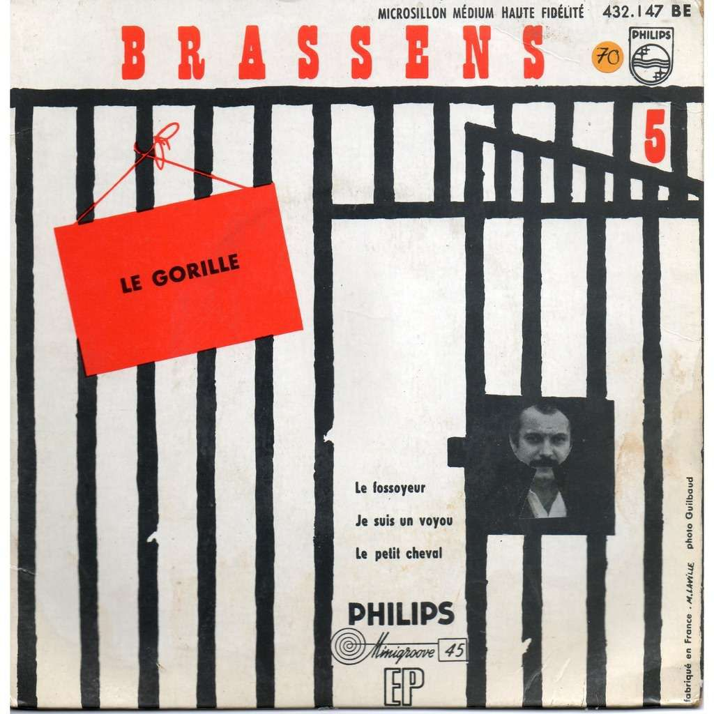 The very rock-witted song The Gorilla by French singer George Brassens, utterly irreverentand licentious, translated in English in the rocktranslation.fr blog.