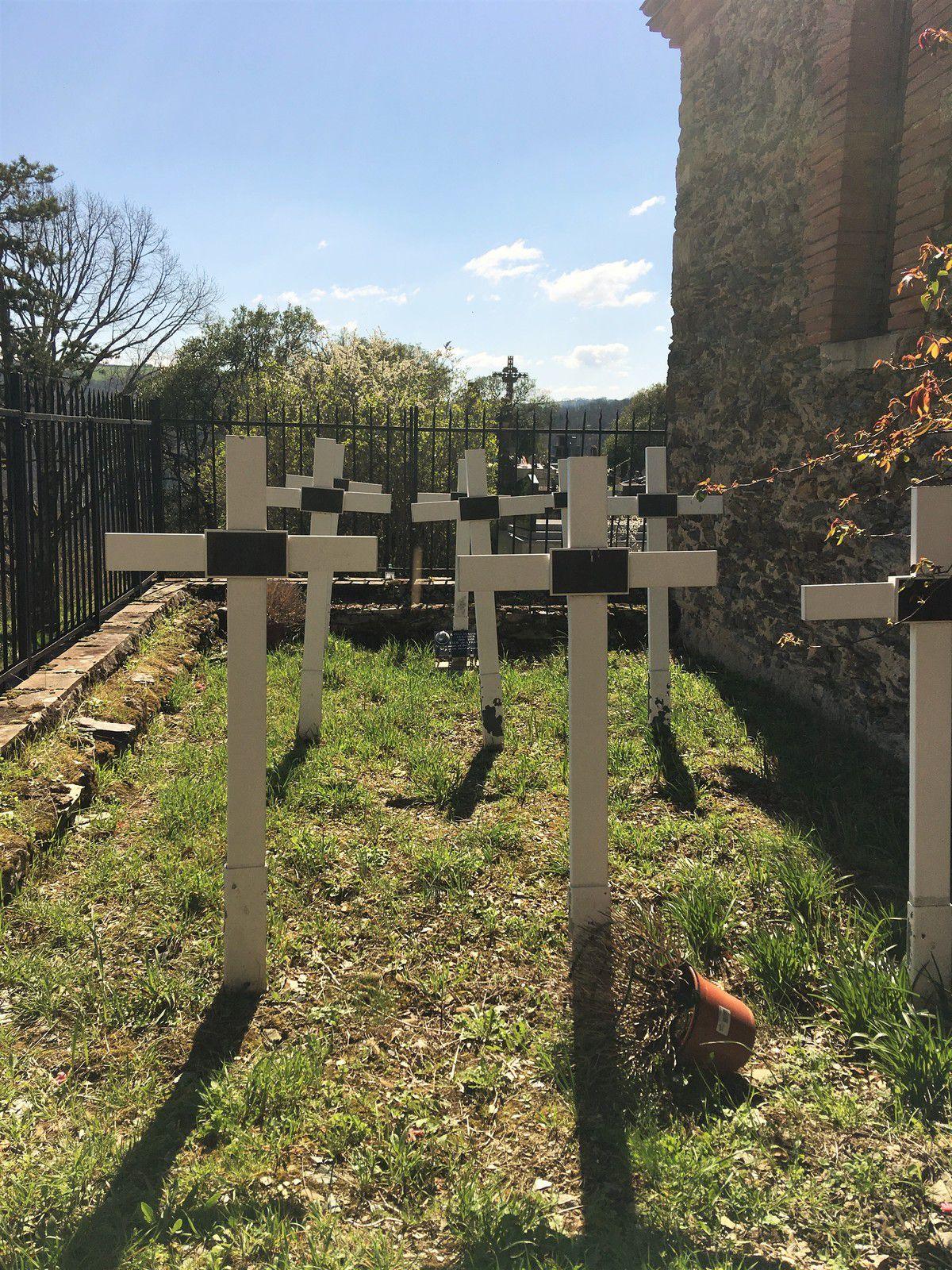 La tombe des franciscains morts au prieuré