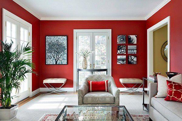 Sơn tường đỏ đô cũng rất đẹp và có vẻ sang trọng hơn