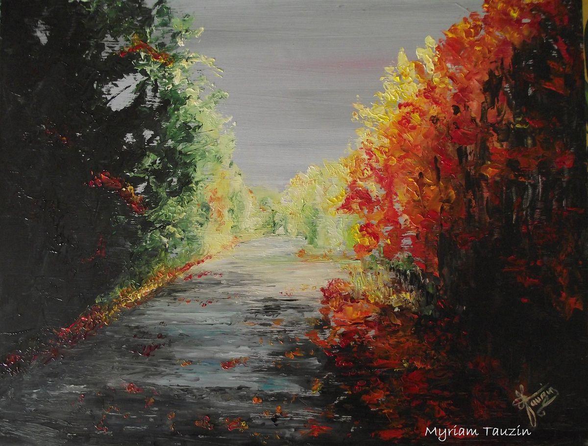 Paysage d 39 automne myriam tauzin dessins et peintures - Paysage d automne dessin ...