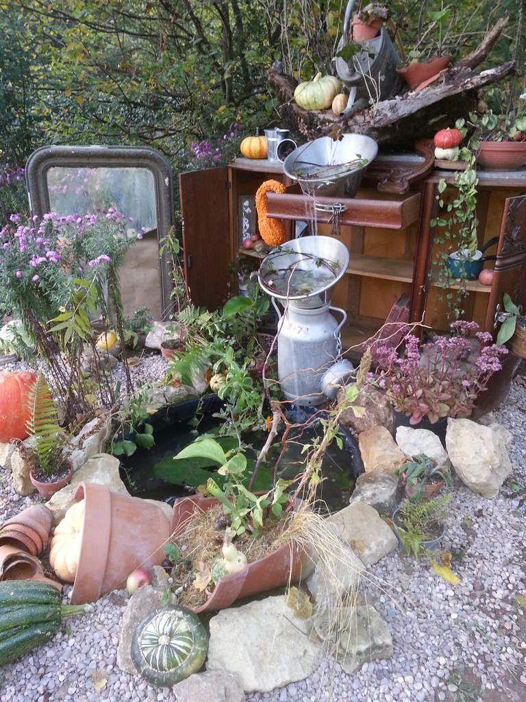 La fontaine du jardin des courges...