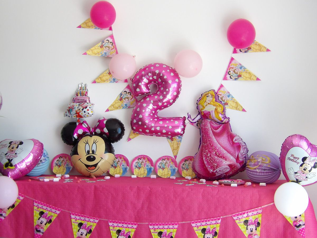 Décoration Anniversaire, Princesse Disney, Birthday