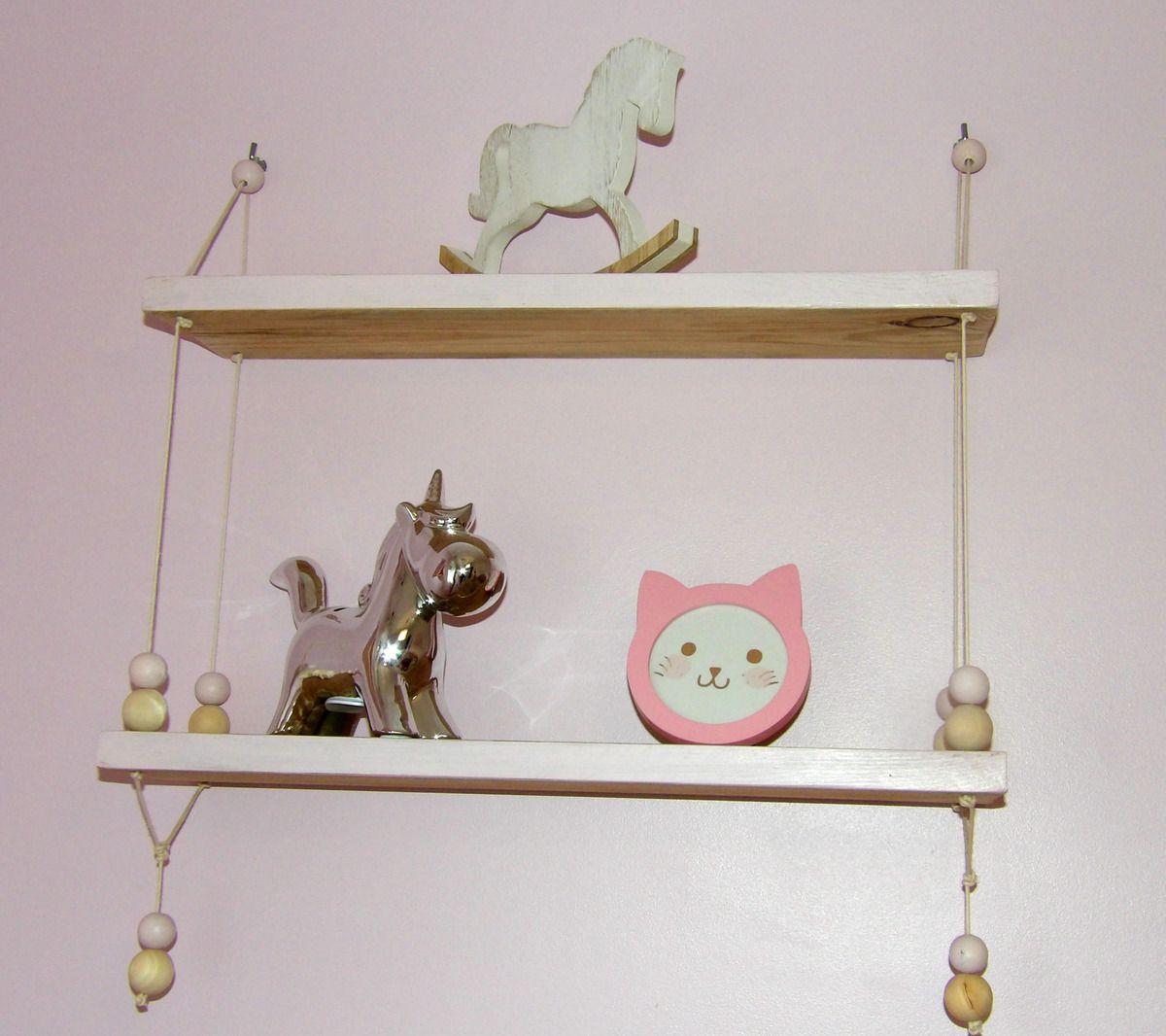 étagère balançoire, bricolage, décoration, chambre fille