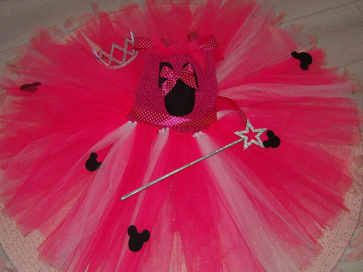 Tutu, Princesse, Minnie, Disney, Rose