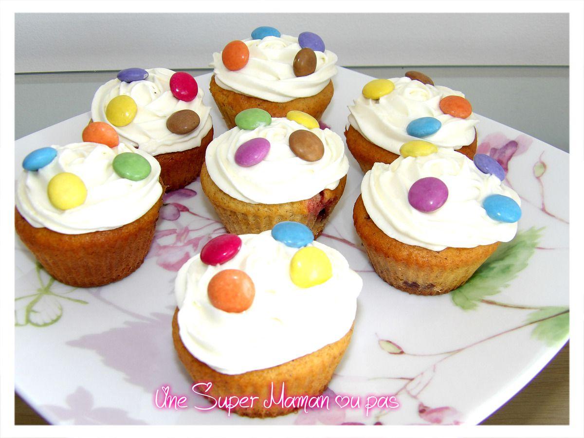 Cupcakes Smarties, Recette, Gâteaux, Pâtisserie, Enfant