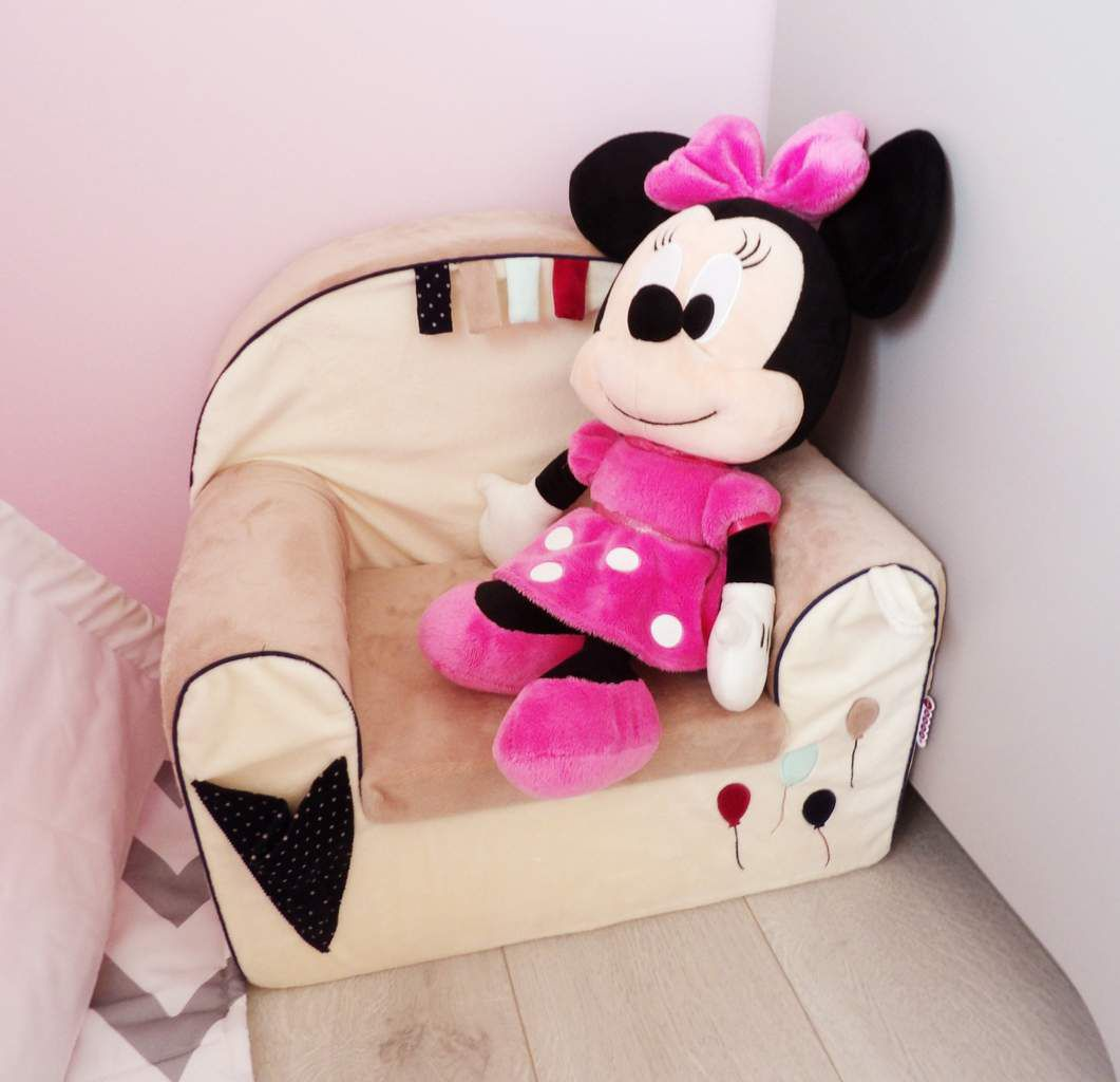 Fauteuil, minnie, chambre fille, disney