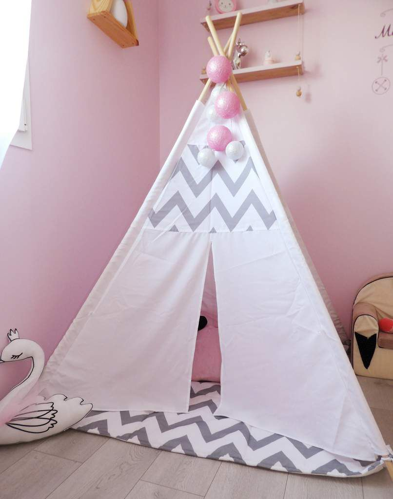 Decoration, chambre, fille, tipi