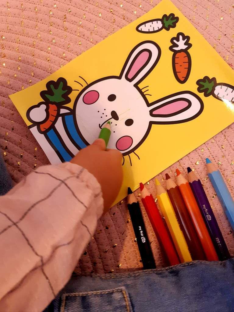 Ses créative, coloriage, apprendre, enfant