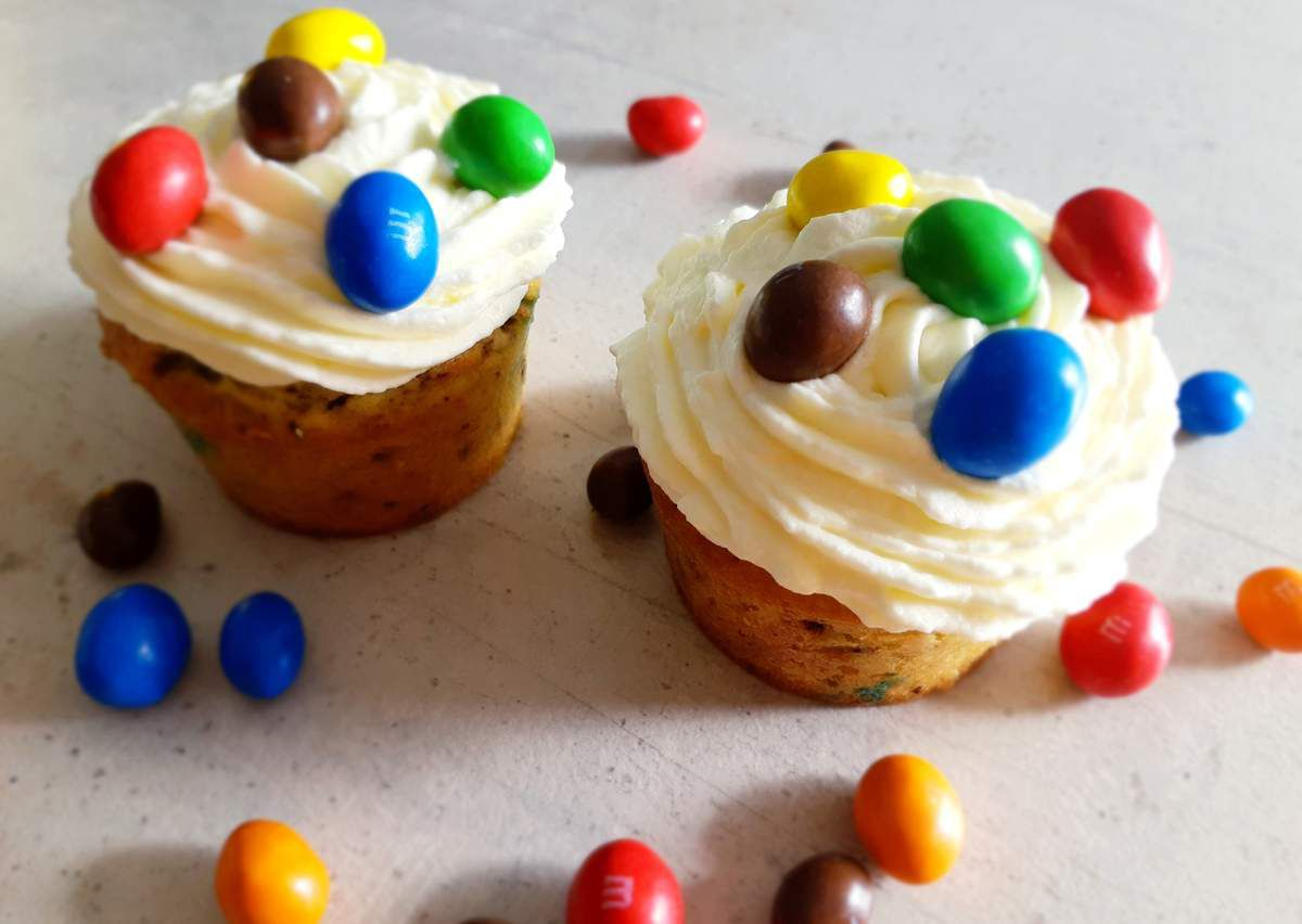 Muffins cupcakes m&m'a recette facile goûter