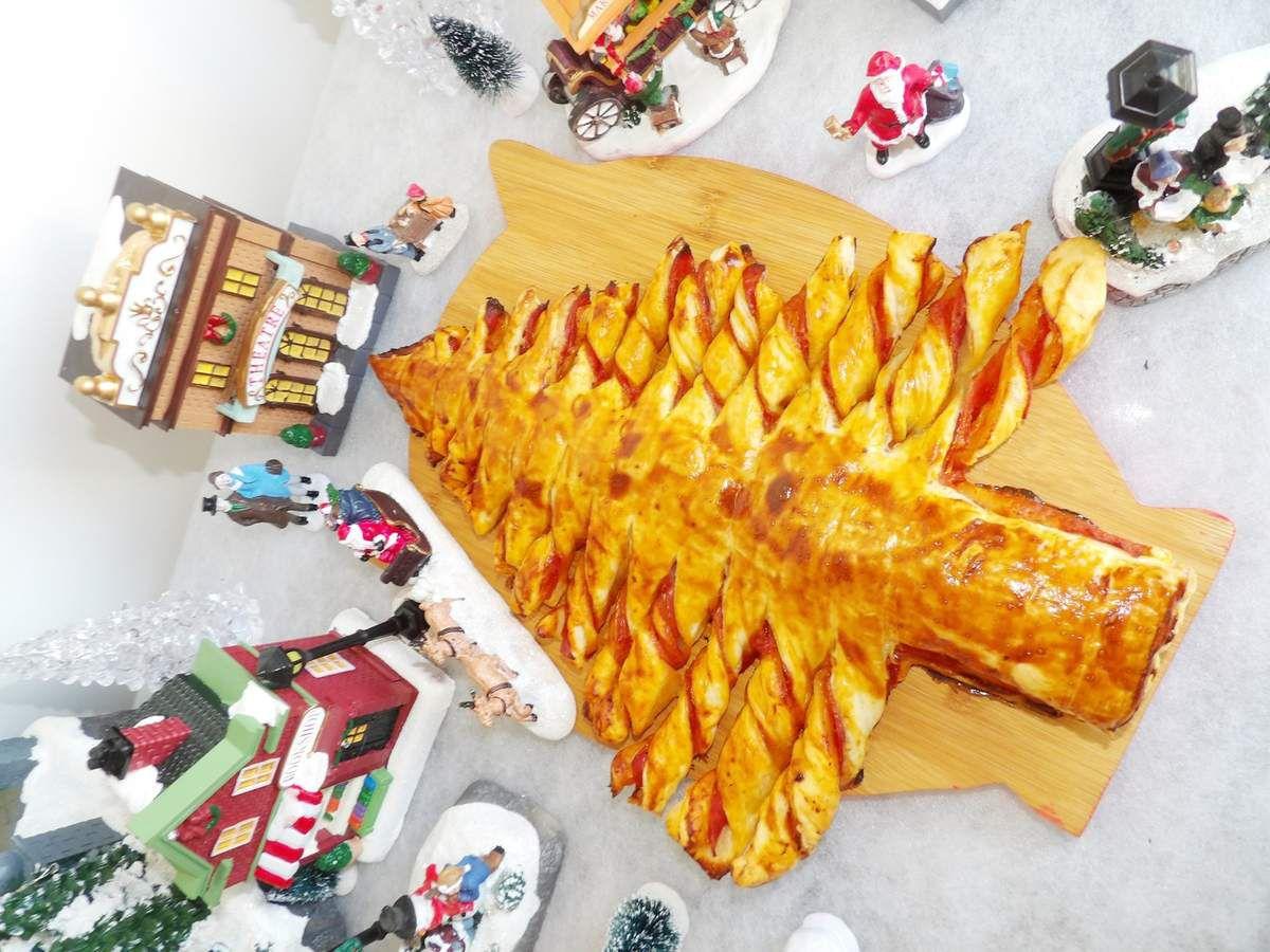 Sapin feuilleté recette facile Noël