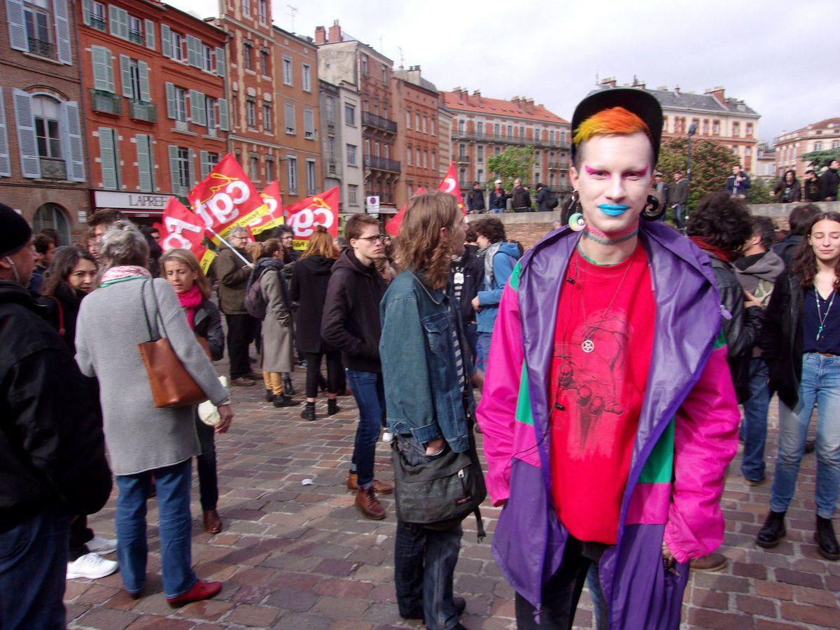 Des étudiants manifestent à Toulouse