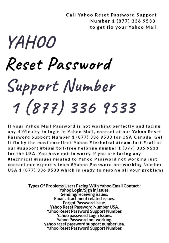 ... With Yahoo Problem Support Number, Yahoo Support Phone Number, Yahoo  Help Desk Phone Number, Yahoo Mail Password Support And Thereby Provide  World Class ...