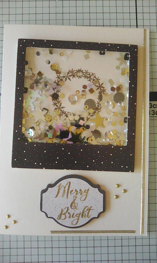"""kit de cartes de chez Crafty Ola Store du mois de novembre """"Noel Noir et doré"""""""