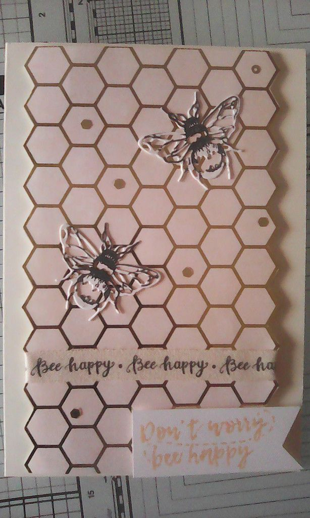 "kit de cartes Crafty Ola Store ""Bee Happy"""