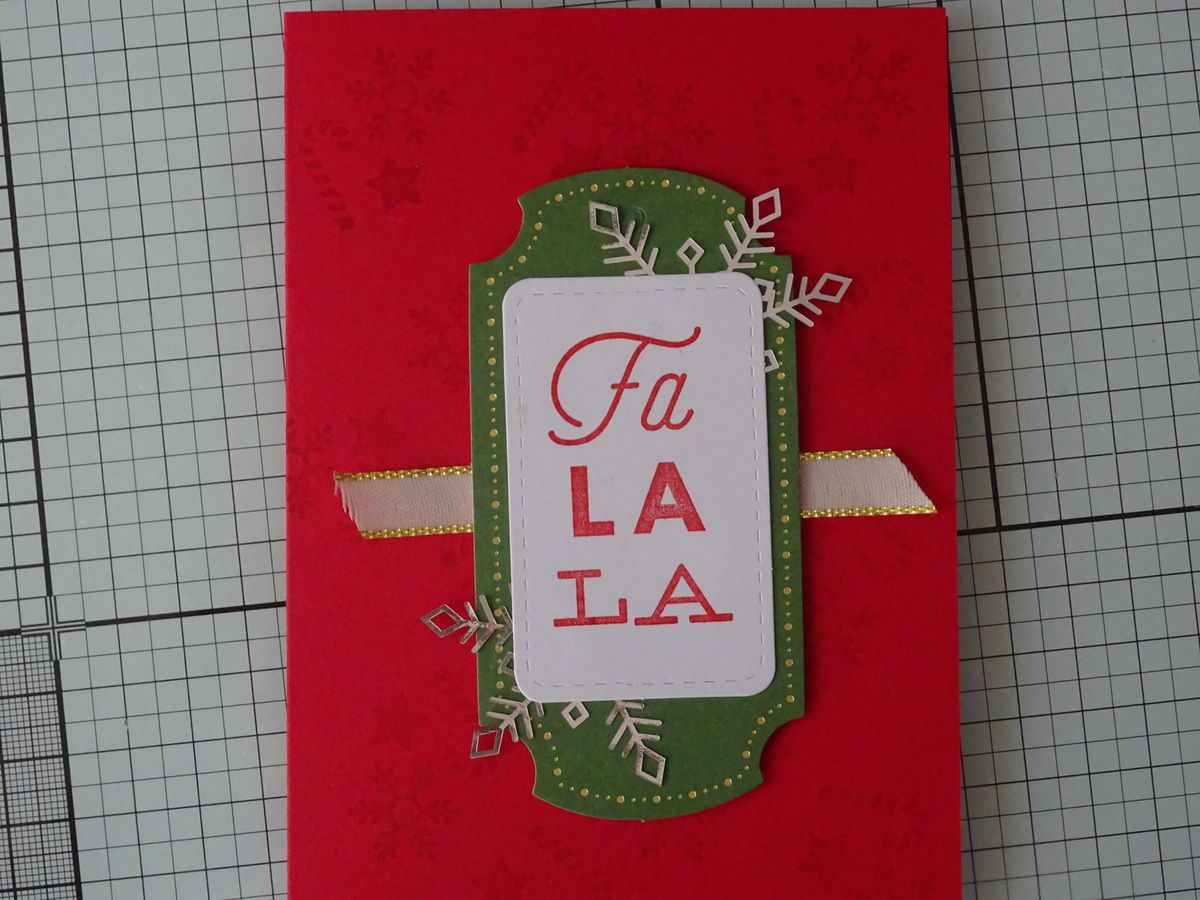 compte à rebours n°15: 5 cartes à partir du kit Noëllement Vôtre de Stampin'up!