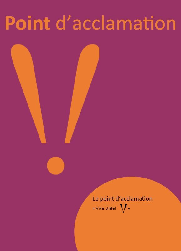 Point d'acclamation