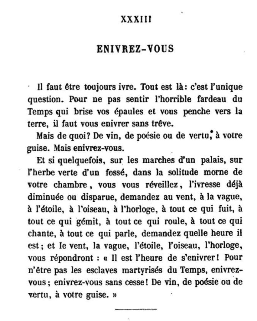 """Résultat de recherche d'images pour """"enivrez vous Charles Baudelaire"""""""