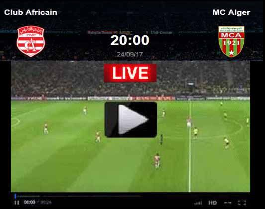 FOOT - CLUB AFRICAIN MC ALGER STREAMING - match en direct live le ...
