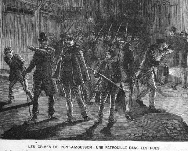 l'affaire Daugas le petit parisien-patrouille dans les rues de pont  a mousson-psycho-criminologie.com