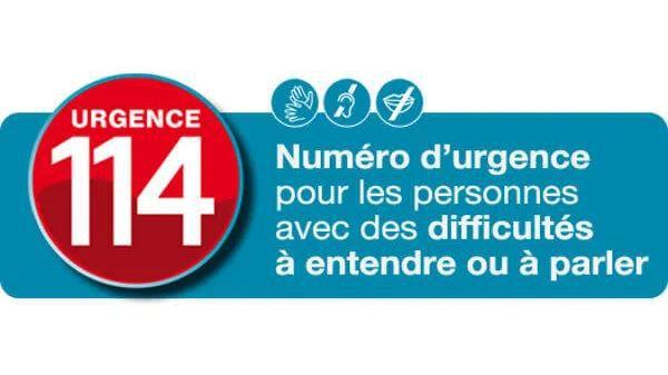 SMS 114 - numero d'urgence pour les personnes en difficultés