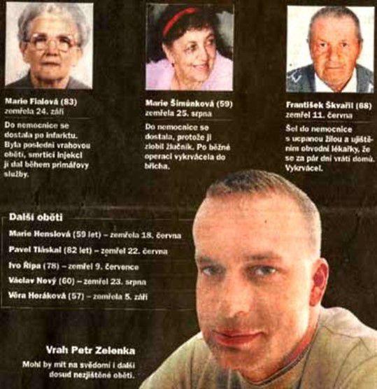 """Petr Zelenka et ses victimes - le tueur à l'héparine - tueurs en série tchèque - """"www.psycho-criminologie.com"""""""