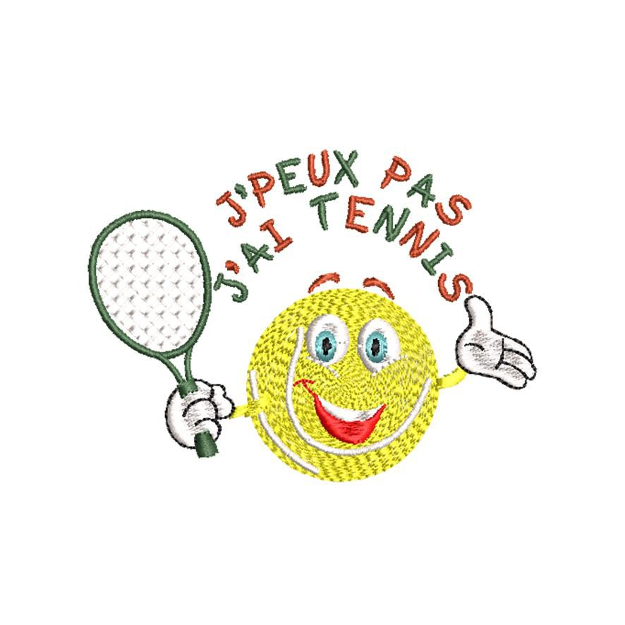 BRODERIE SMILEY TENNIS