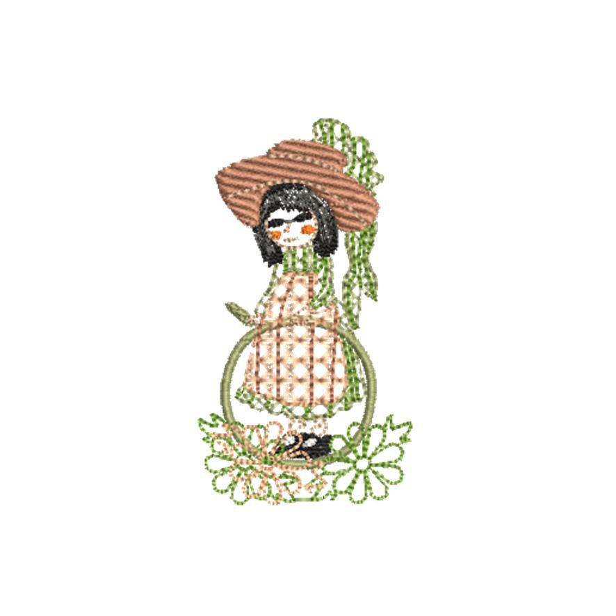 BRODERIE PETITE FILLE 1800