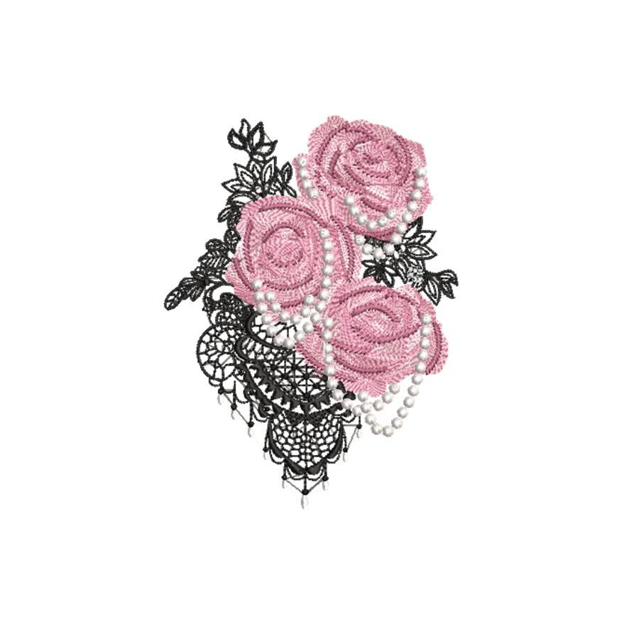 BRODERIE DECO ROSES