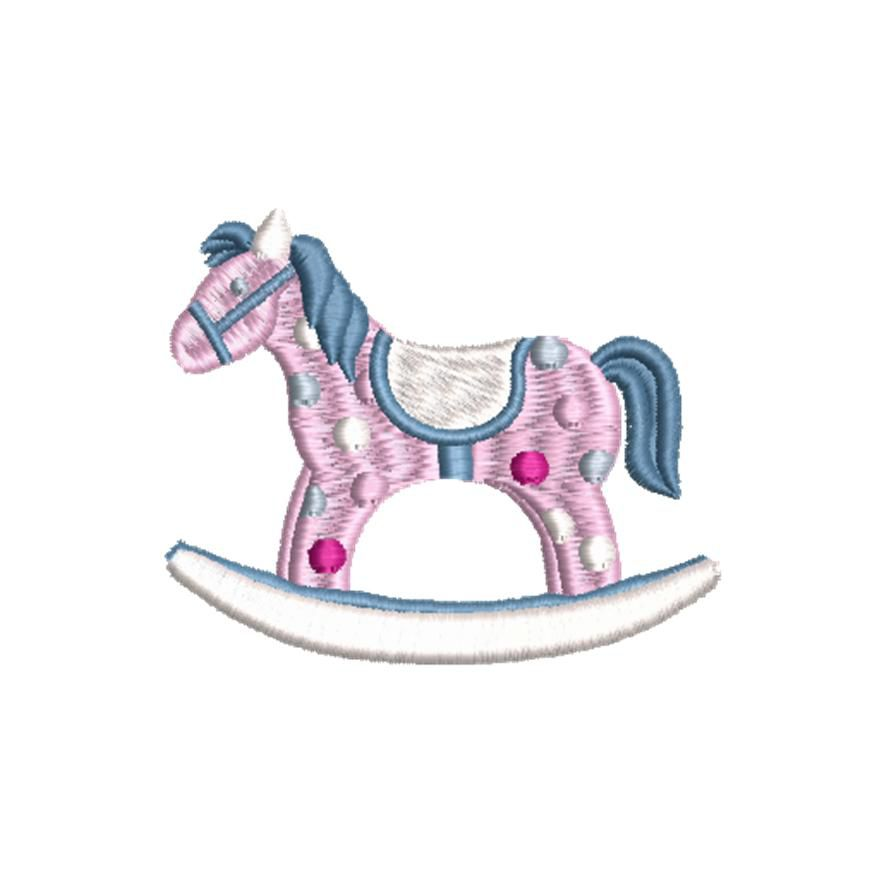 BRODERIE CHEVAL A BASCULE