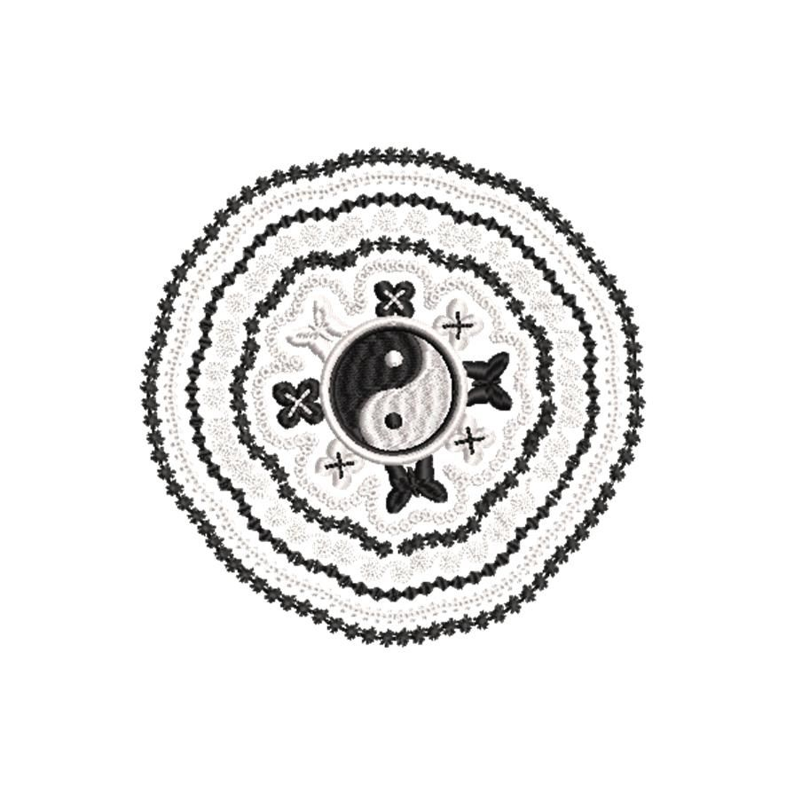 BRODERIE YING ET YANG