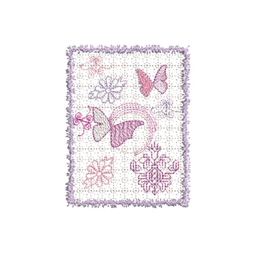 BRODERIE CADRE SHABBY CHIC