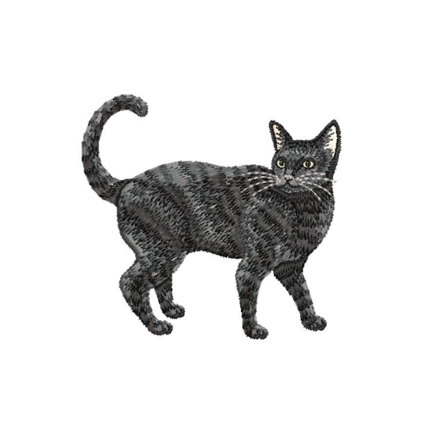 BRODERIE CHAT NOIR