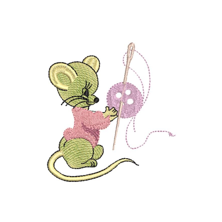 BRODERIE SOURIS COUTURIERE