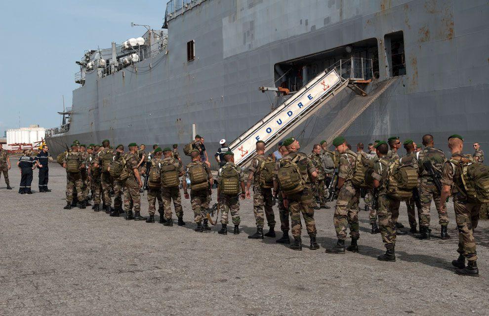 Carte des Opérations et Missions Militaires Françaises