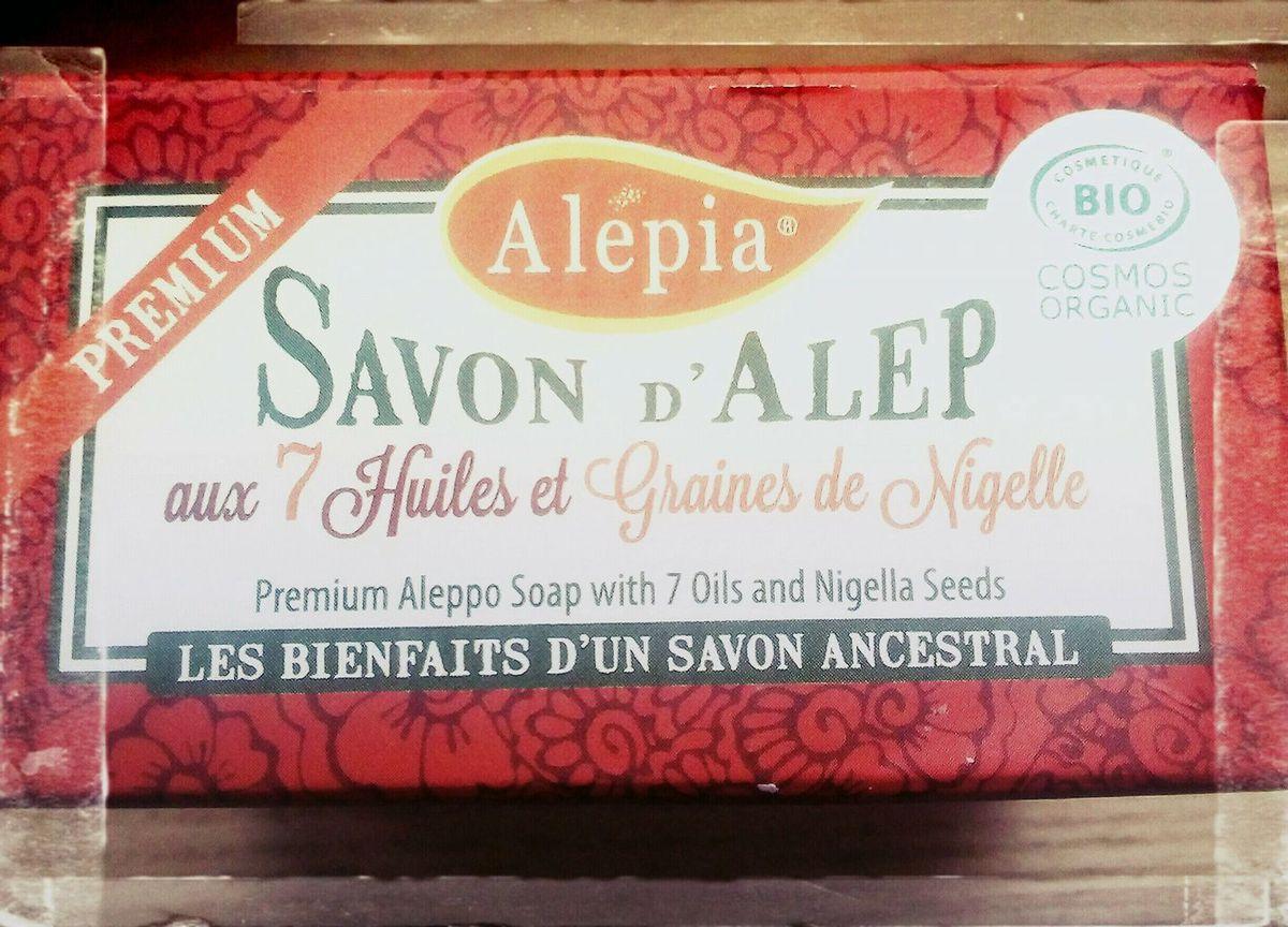savon d'alep premium aux 7 huiles et aux graines