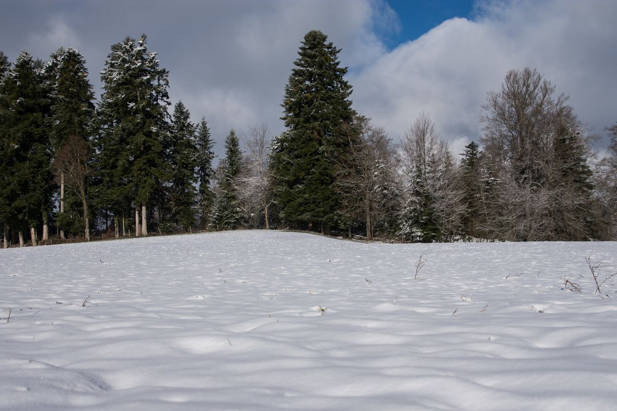 Le Doubs et ses hauts plateaux enneigés