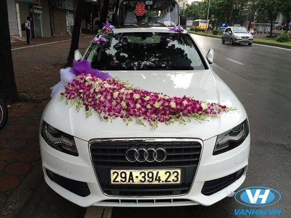 Mẫu xe cưới được trang trí bắt mắt của Vân Hải