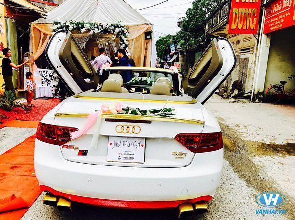 Cho thuê xe cưới mui trần Audi A4 giá rẻ tại Vân Hải