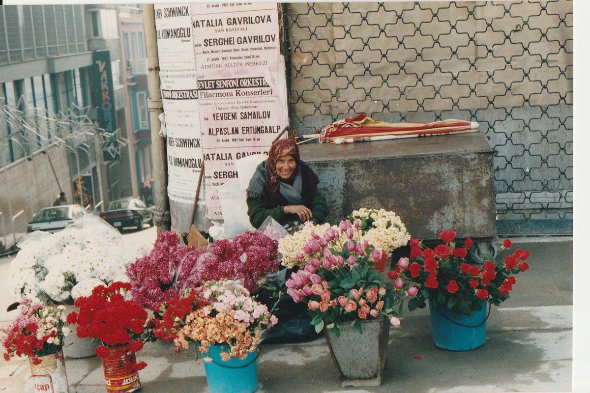 vendeuse de fleurs, turquie, istanbul