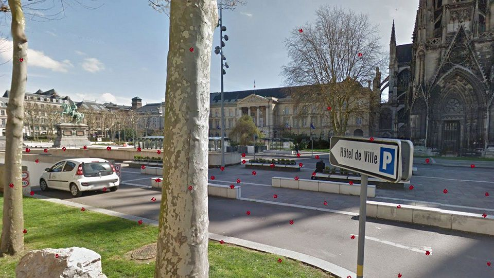 rouen, place de l'hôtel de ville