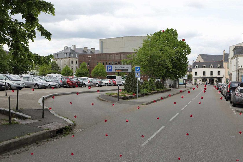 quimper, parking de le tour d'auvergne